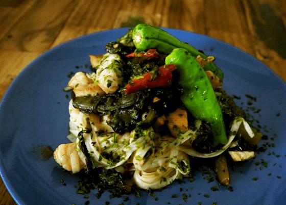 野沢菜ペペロンチーノ