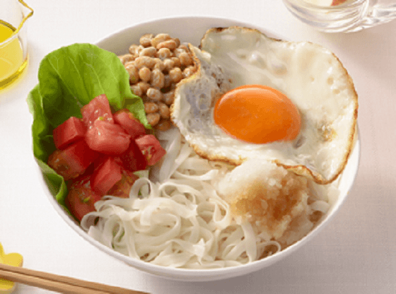 納豆とトマトおろしぽん酢のせ