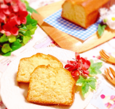 ホットケーキミックスパウンドケーキ